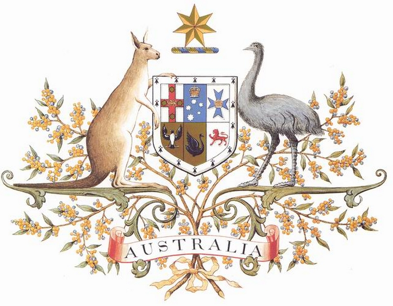 Австралия, герб, фото, природа, животные, цветы.